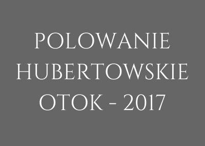 POLOWANIE HUBERTOWSKIE 2017