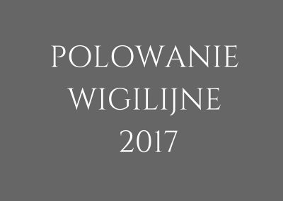 POLOWANIE WIGILIJNE 2017