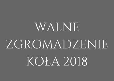 WALNE ZGROMADZENIE KOŁA 2018